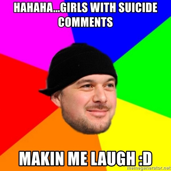 King Kool Savas - HAHAHA...GIRLS WITH SUICIDE COMMENTS MAKIN ME LAUGH :D