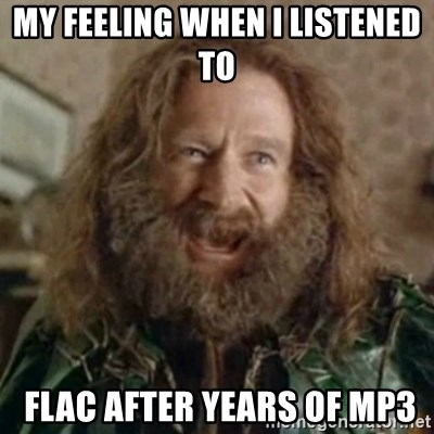 What Year - My Feeling when I LISTENED TO  FLac after years of mp3