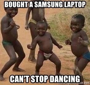 african children dancing - Bought a samsung laptop can't stop dancing