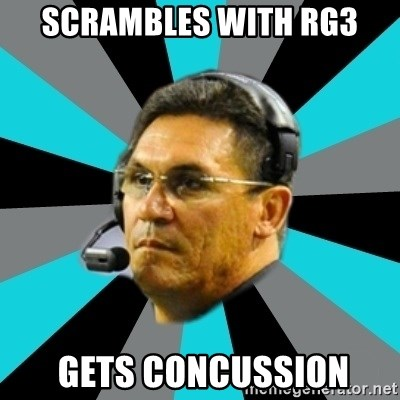 Stoic Ron - scrambles with rg3  gets Concussion