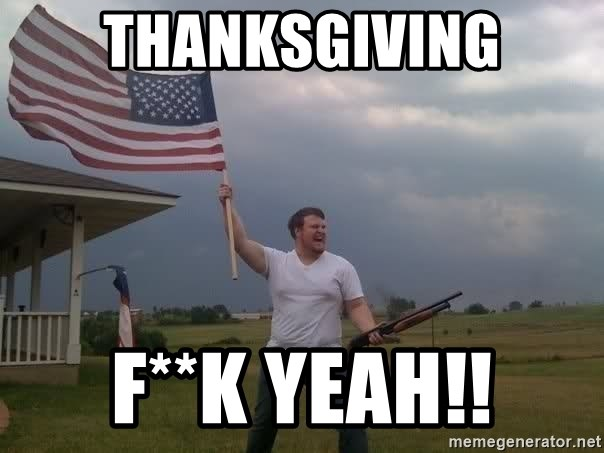 american flag shotgun guy - Thanksgiving F**k yeah!!