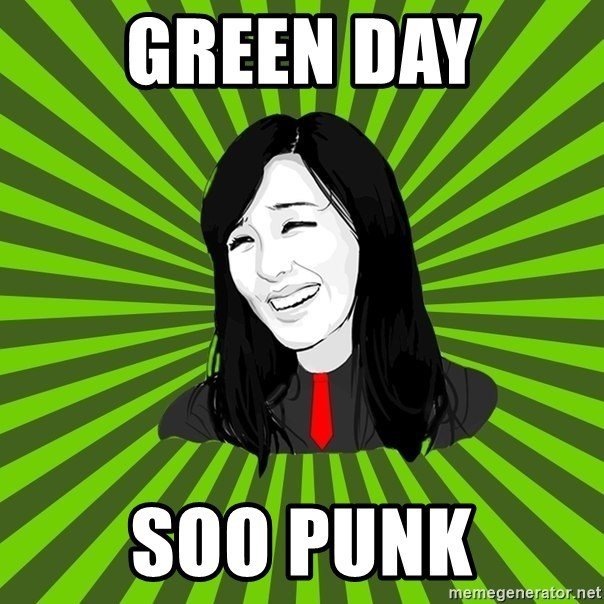 green fan - green day soo punk
