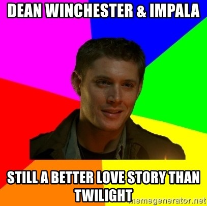 glorious Dean - dean winchester & impala still a better love story than twilight