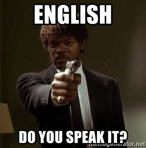 Jules Pulp Fiction - English Do you speak it?