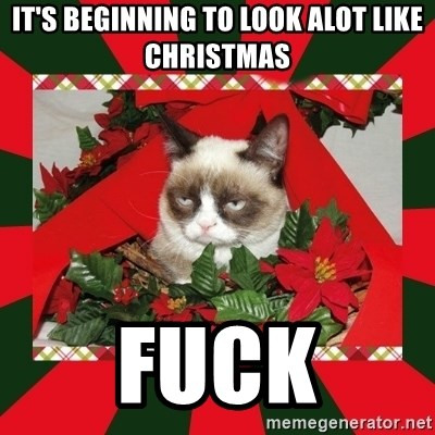 GRUMPY CAT ON CHRISTMAS - It's beginning to look alot like Christmas fuck