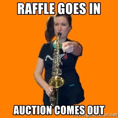 SaxGirl - raffle goes in auction comes out
