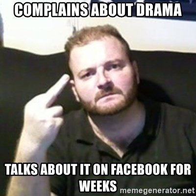 Angry Drunken Comedian - Complains about drama TALKS ABOUT IT ON FACEBOOK FOR WEEKS
