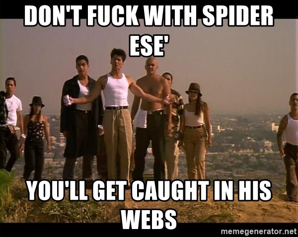 Blood in blood out - DON'T FUCK WITH SPIDER ESE' YOU'LL GET CAUGHT IN HIS WEBS