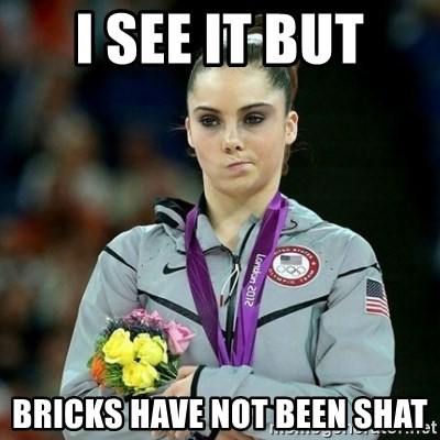 McKayla Maroney Not Impressed - i see it but bricks have not been shat