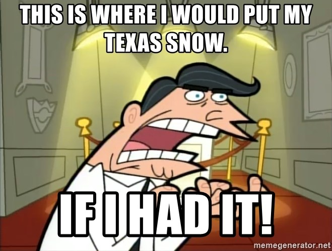 Timmy turner's dad IF I HAD ONE! - This is where I would put my texas snow. If I had it!