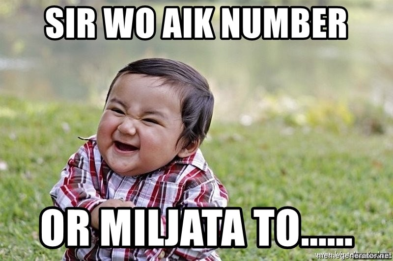 Evil smile child - sir wo aik number or miljata to......
