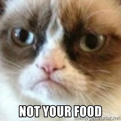 angry cat asshole - NOT YOUR FOOD