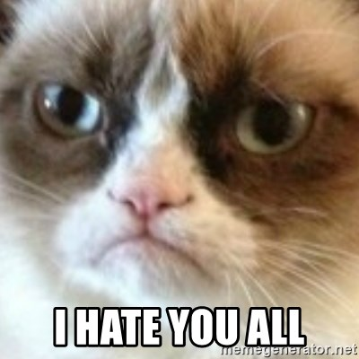 angry cat asshole - I hate you all