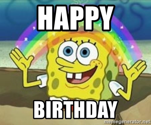 Spongebob - Happy  birthday