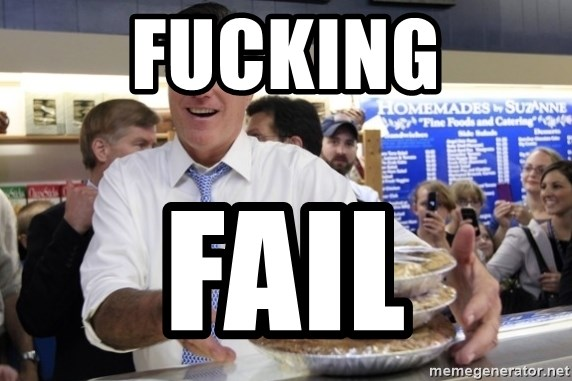 Romney with pies - FUCKING FAIL