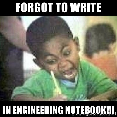Black kid coloring - Forgot to write in ENGINEERING NOTEBOOK!!!