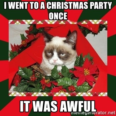 GRUMPY CAT ON CHRISTMAS - I went to a Christmas Party Once It was awful