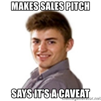 Bryan Brollo Customer Support - Makes sales pitch says it's a caveat