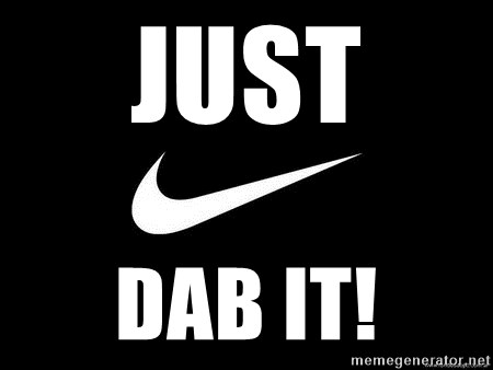 Nike swoosh - Just  dab it!