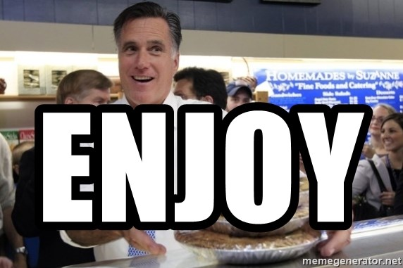 Romney with pies - ENJOY