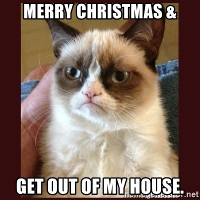 merry christmas & Get out of my house. - Tard the Grumpy Cat ...