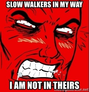 Rage Face - slow walkers in my way i am not in theirs