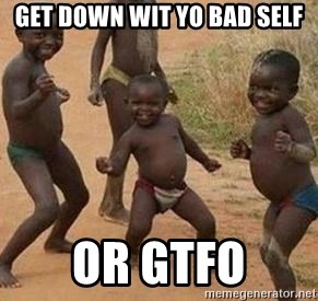 african children dancing - get down wit yo bad self or gtfo