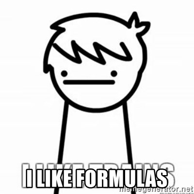 I Like Trains - I like formulas