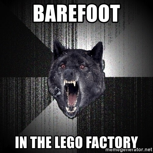 Insanity Wolf - BAREFOOT IN THE LEGO FACTORY