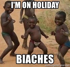 african children dancing - i'M on holiday biaches