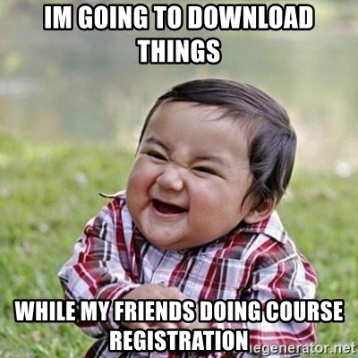 Niño Malvado - Evil Toddler - Im going to download things while my friends doing course registration