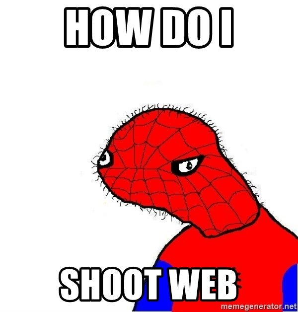 spoderman - How do i shoot web