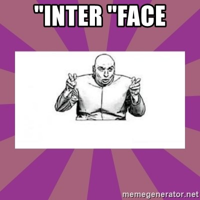 """'dr. evil' air quote - """"inter """"face"""