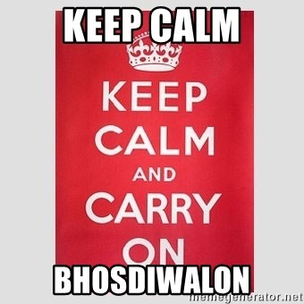 Keep Calm - Keep Calm Bhosdiwalon