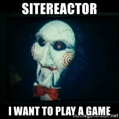 SAW - I wanna play a game - Sitereactor I want to play a game