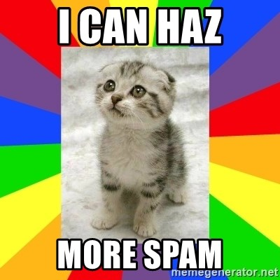 Cute Kitten - I Can haz More Spam