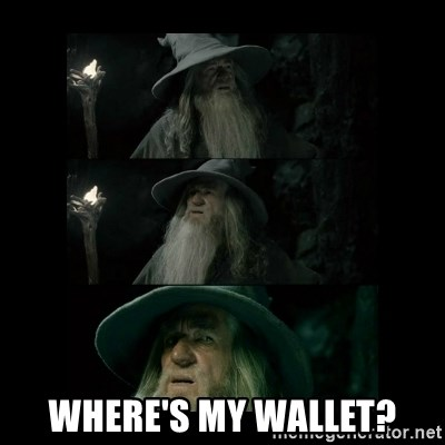 Confused Gandalf - where's my wallet?