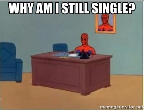 Spiderman Desk - Why am i still single?