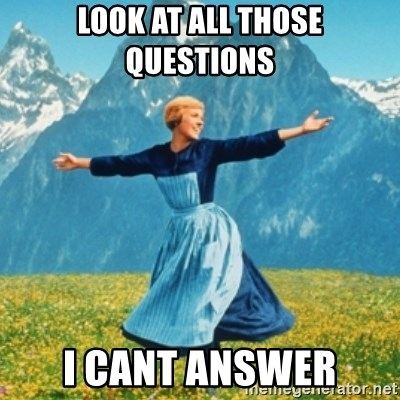 Sound Of Music Lady - LOOK AT ALL THOSE QUESTIONS  I CANT ANSWER