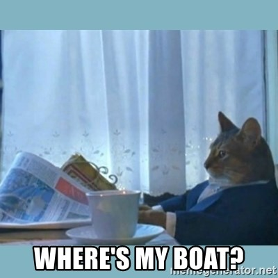 rich cat  - Where's my boat?