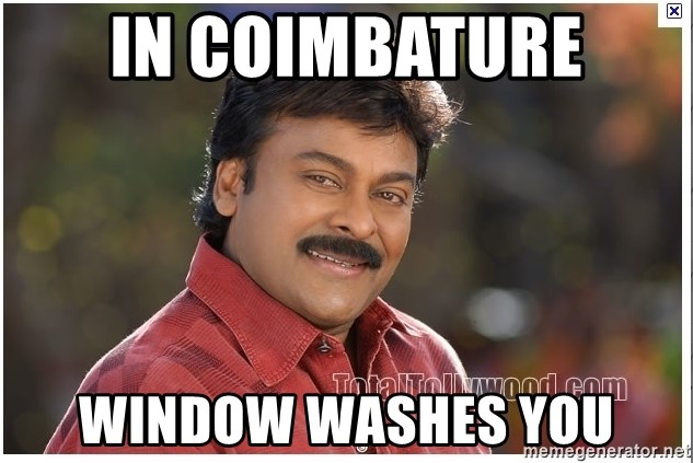Typical Indian guy - in coimbature window washes you
