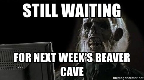 OP will surely deliver skeleton - Still waiting for next week's beaver cave