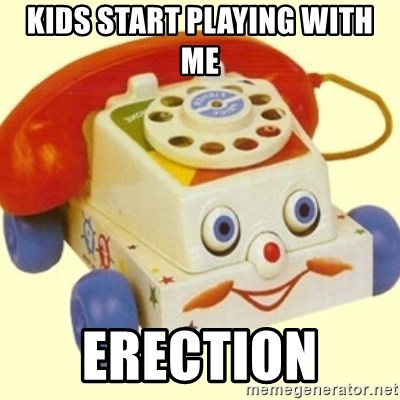 Sinister Phone - kids start playing with me  erection