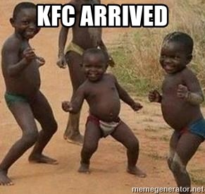 african children dancing - KFC ARRIVED