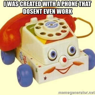 Sinister Phone - i was created with a phone that dosent even work