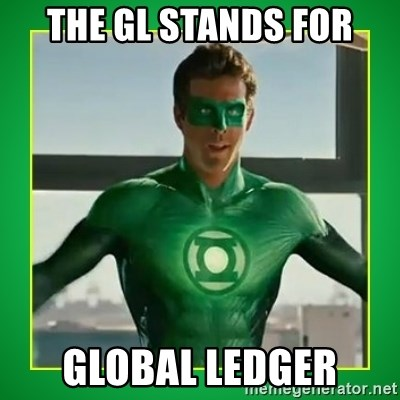 Green Lantern - The GL stands for Global Ledger