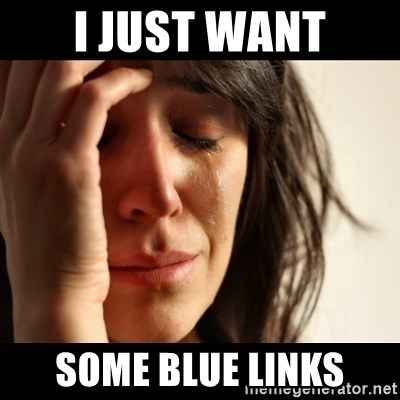 crying girl sad - I just want some blue links