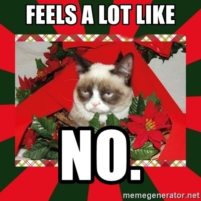 GRUMPY CAT ON CHRISTMAS - Feels a lot like no.