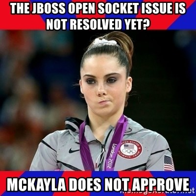 Mckayla Maroney Does Not Approve - THE JBOSS OPEN SOCKET ISSUE IS NOT RESOLVED YET? Mckayla DOES NOT APPROVE