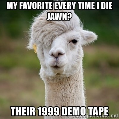 Hipster Llama - my favorite every time i die jawn? their 1999 demo tape